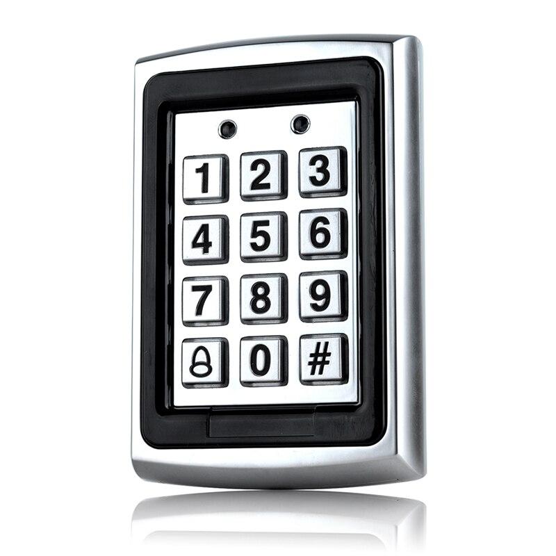 Waterproof Metal Rfid Access Control Keypad Password 1000 Users Card Reader Keypad Key Fobs Password Access Lock Door Access Con