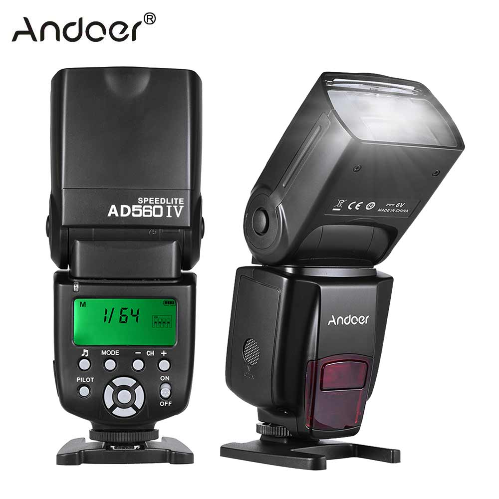 Andoer AD560 IV 2.4G sans fil sur caméra Flash esclave Speedlite pour Canon Nikon Olympus Pentax Sony A7 A7 II A7S A7R A7S II