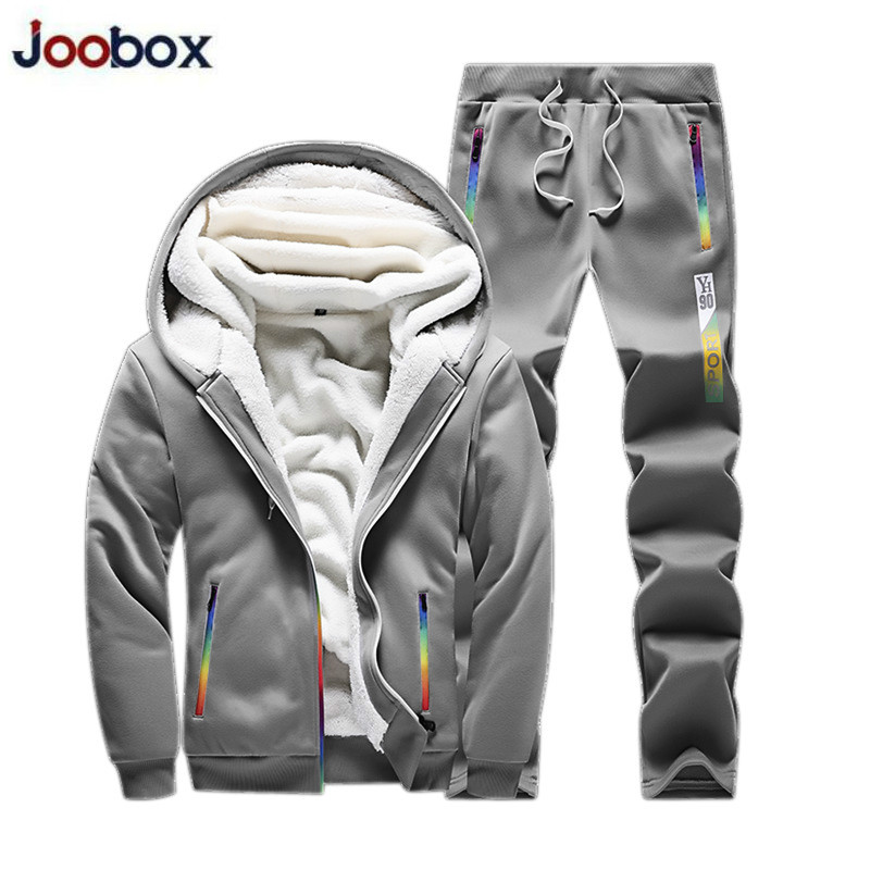 Alion Men 2 Pieces Thicken Fleece Lined Full Zip Jacket /& Pants Jogger Tracksuits