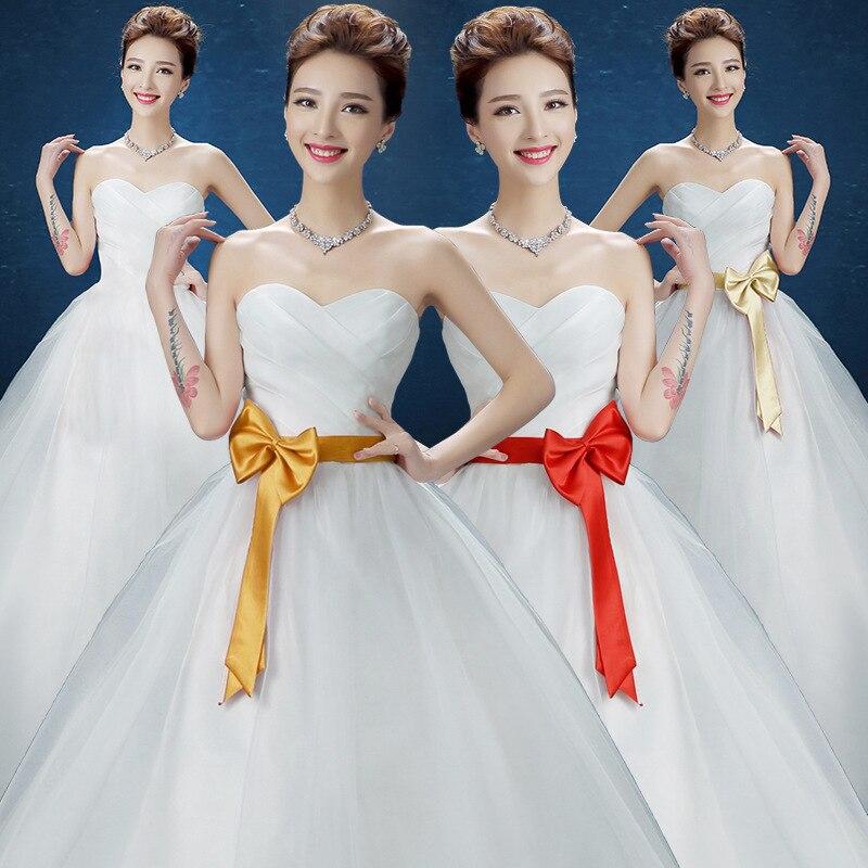2019 Sale Vestido De Festa Wedding Dress 2020 New Korean Bride Bra Large Pregnant Women Wholesale Lace Show Thin Autumn Spring