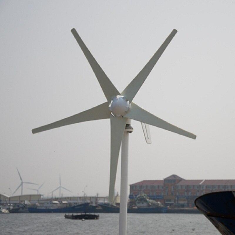 Petit générateur de vent pour la vitesse de démarrage du bateau 2.5 m/s éolienne 400W combiner avec le contrôleur hybride 600w hors onduleur de grille