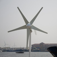 Small Wind Generator for Boat Start up Speed 2.5m/s Wind Turbine 400W Combine with Hybrid Controller 600w off Grid Inverter