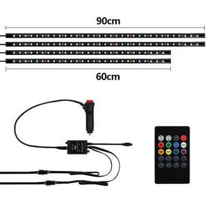 Image 4 - Flexible RGB 48 LED Streifen Unter Auto Rohr Underglow Unterboden System 4Pcs Neon Lichter Kit Für Heißer Verkauf