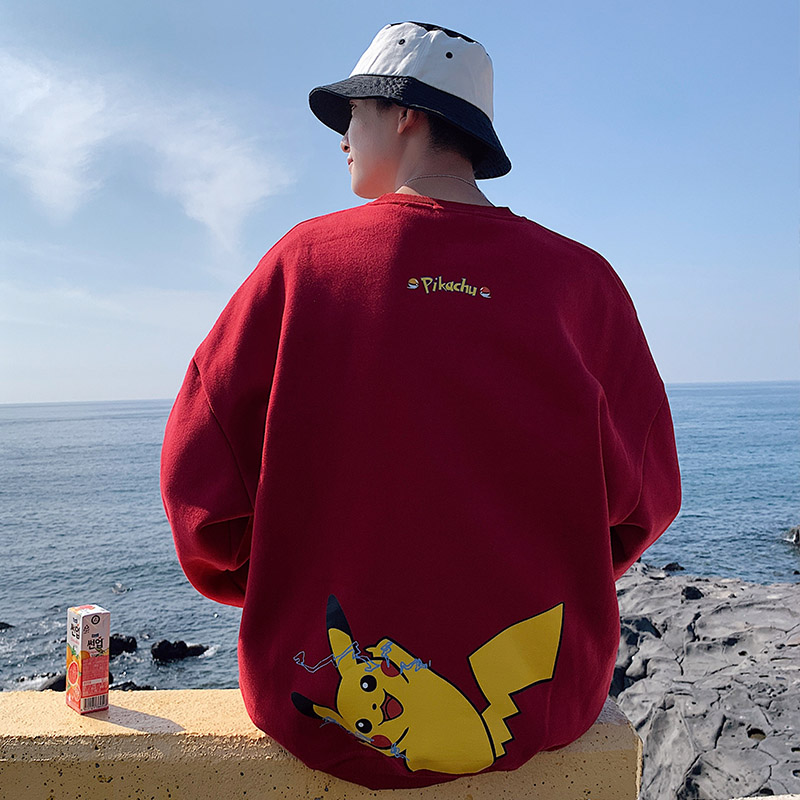 2019 New Pokemon hoodies Korean Style Fashion Harajuku Student Streetwear Pikachu Top Sweatshirt Men 2