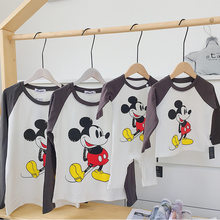 Family Matching Christmas Fleece Shirt Mom and Baby Family Look Mickey Long Sleeve Bodysuit Winter Thick Tops Couple Family Look(China)