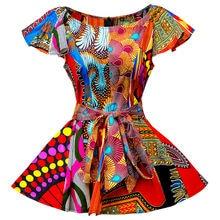 Африканская одежда для женщин модный топ рубашка с принтом Анкары