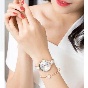 Image 3 - 2020 NIBOSI Uhr Luxus Frauen Uhr Damen Kreative frauen Keramik Armband Uhren Weiblichen Uhr Montre Femme Relogio Feminino