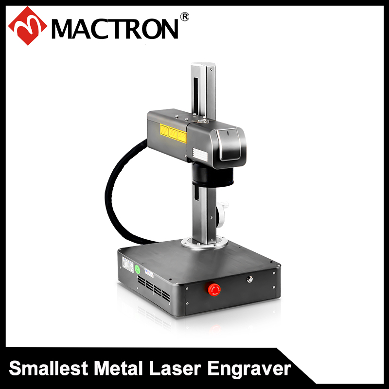 20W Mini Metal And Plastic  Laser Metal Engraving Machine With Inside Computer System 16KG Weight