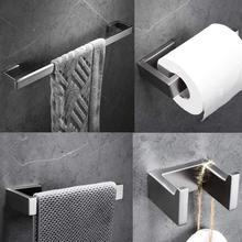 Набор аксессуаров для ванной комнаты из 4 предметов, набор аксессуаров для ванной комнаты, настенное крепление из нержавеющей стали, держатель для полотенец, держатель для полотенец, держатель для туалетного рулона