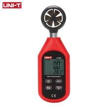 UNI-T-probador de velocidad de viento Digital UT363 UT363BT, Mini Anemómetro con Sensor retroiluminación LCD de 0-30 m/S, medidor de temperatura