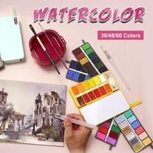 Conjunto de pintura de acuarela de Color Macaron para artista, suministros de Arte de dibujo, Superior, 12/17/36/48 colores
