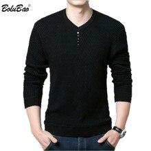 Мужской Повседневный свитер BOLUBAO, облегающий пуловер с v образным вырезом и длинным рукавом, свитер для мужчин