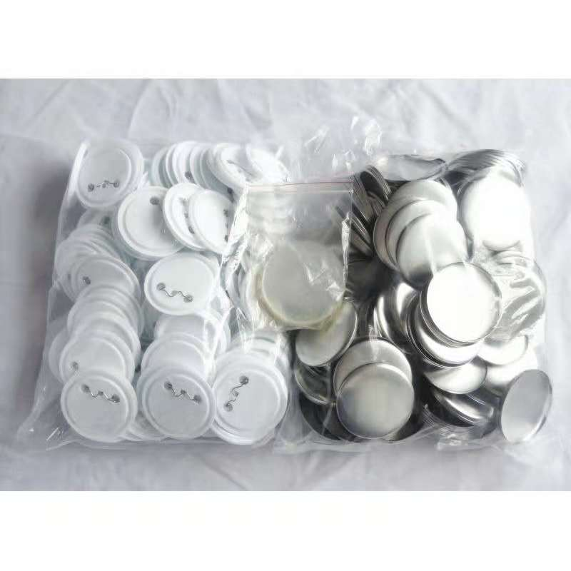 58mm DIY Badge Button Pins  Blank Raw Material Pins Buttons Badges Supplies Parts 100PCS