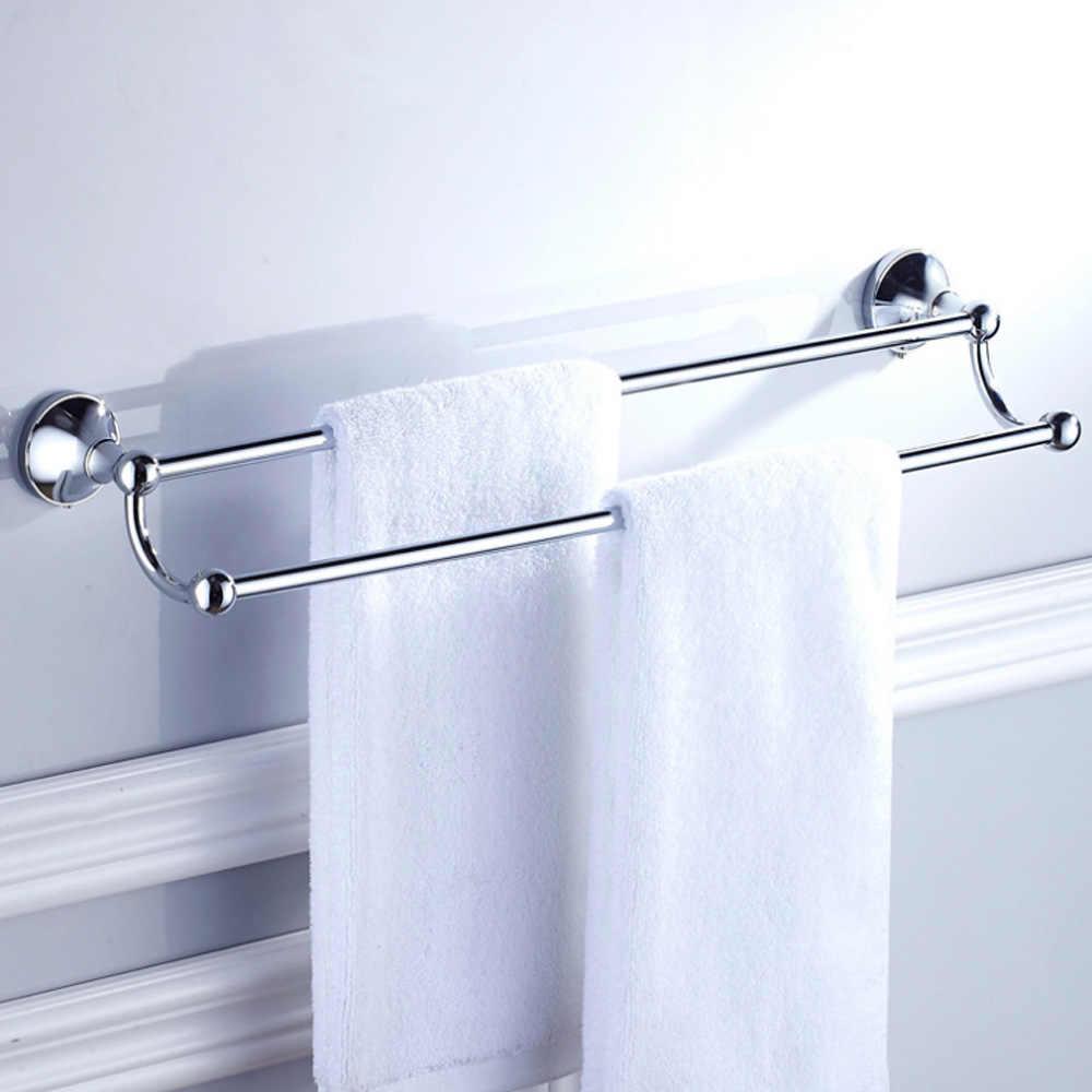 Sprzęt do kąpieli zestaw akcesoria Chrome mosiądz kolekcja Okrągły wieszak na ręcznik uchwyt na papier szczotkę wc wieszak na płaszcze wanna wieszak na ręczniki mydelniczka