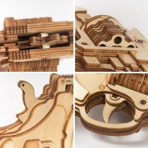 Image 4 - Robotime ROKR Revolver Gun Model Toys 3D Wooden Puzzle Games Crafts Gift For Children Kids Boys Birthday Gift
