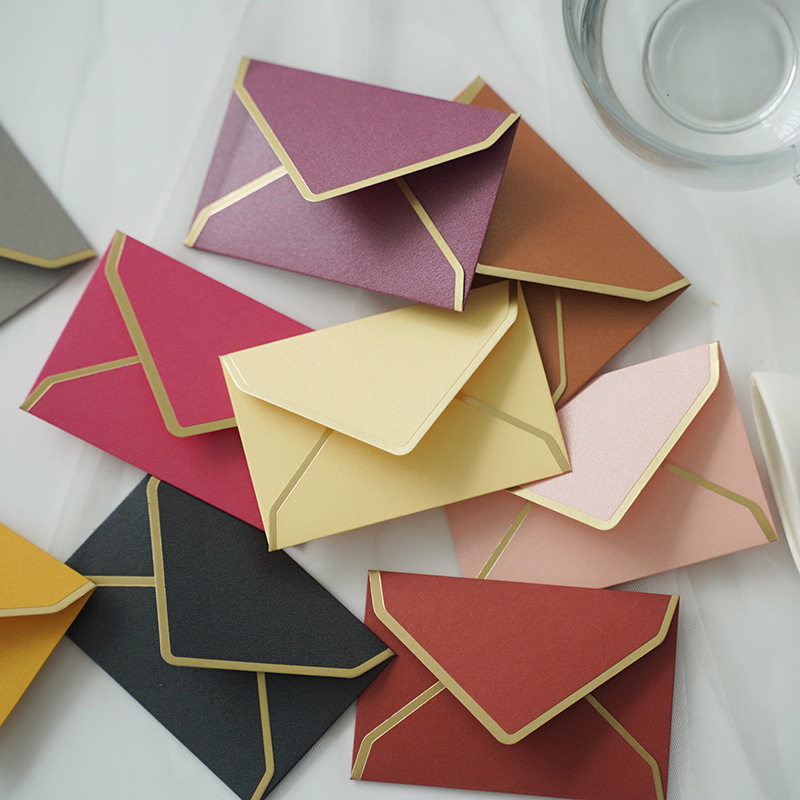 20pcs/lot 105mm X 70mm Pearl Paper Envelopes Card Postcard Envelope Card Making Colored Greeting Cards Drop Shipping