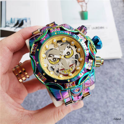 TEMEITE Brand Chromatic Dragons Quartz  Multifunction Stainless Steel Man Watches Waterproof Luxury Gold Chronograph Creative