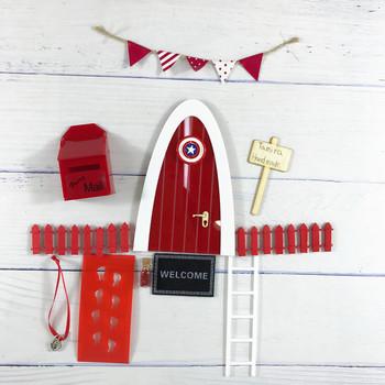 Ręcznie wykonane łuk zęby wróżka drzwi XMas wielki prezent dla chłopców miniaturowe udawaj zagraj w magiczne wróżki ząb wróżka drzwi tanie i dobre opinie AOSST Drewna 5-7 lat Unisex