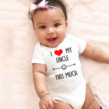 Outfit Uncle Babyromper Newborn I-Love-My Jumpsuit Funny Infant Girls Fashion Cute Kawaii