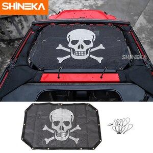 Image 2 - SHINEKA 2 דלתות שמשייה קדמי גג רשת ביקיני למעלה גג רשת שמש UV מגן רכב כיסוי עבור ג יפ רנגלר 2007 2017 אביזרים