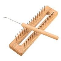 Nova chegada de alta qualidade ferramentas de costura acessório kintting tear tricô placa de madeira máquina tricô conjunto ferramentas|Tricô DIY| |  -