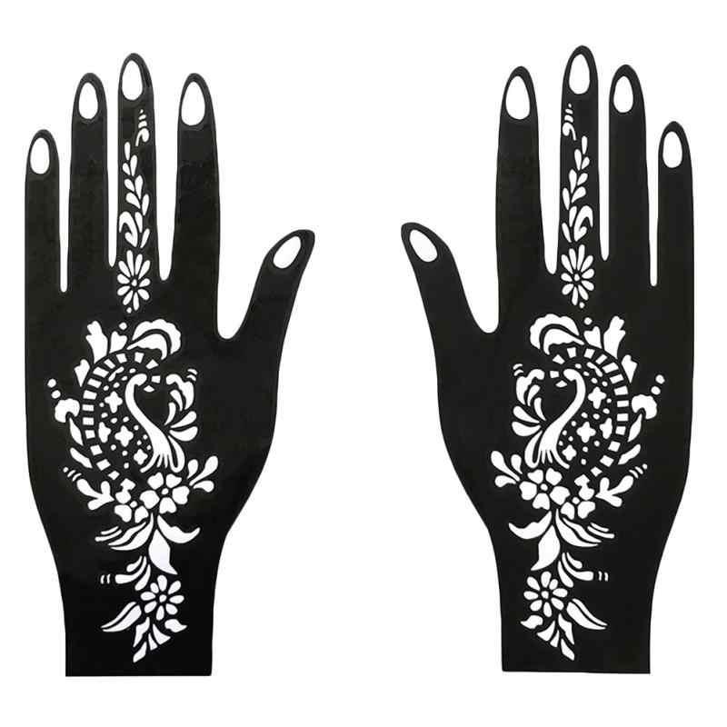 New arrival! Tattoo Templates Hands Feet India Henna Temporary Tattoo Stencils Kit for Hand Arm Leg Feet Body Art Decal Body Pai