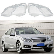 Headlamps Transparent Lampshades Lamp Shell Masks Front Left/Right Headlights Lens Cover for Mercedes-Benz W212 2009-2014(China)