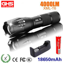 Power Light LED Flashlight T6 Light Charge Flexible Zoom Outdoors Camp Cycling Flashlight 18650 Battery Waterproof