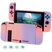 Funda rígida protectora desmontable para Nintendo Switch, carcasa con gradiente de pintura de superficie colorida, para Nintendo Switch NX NS, Joycon
