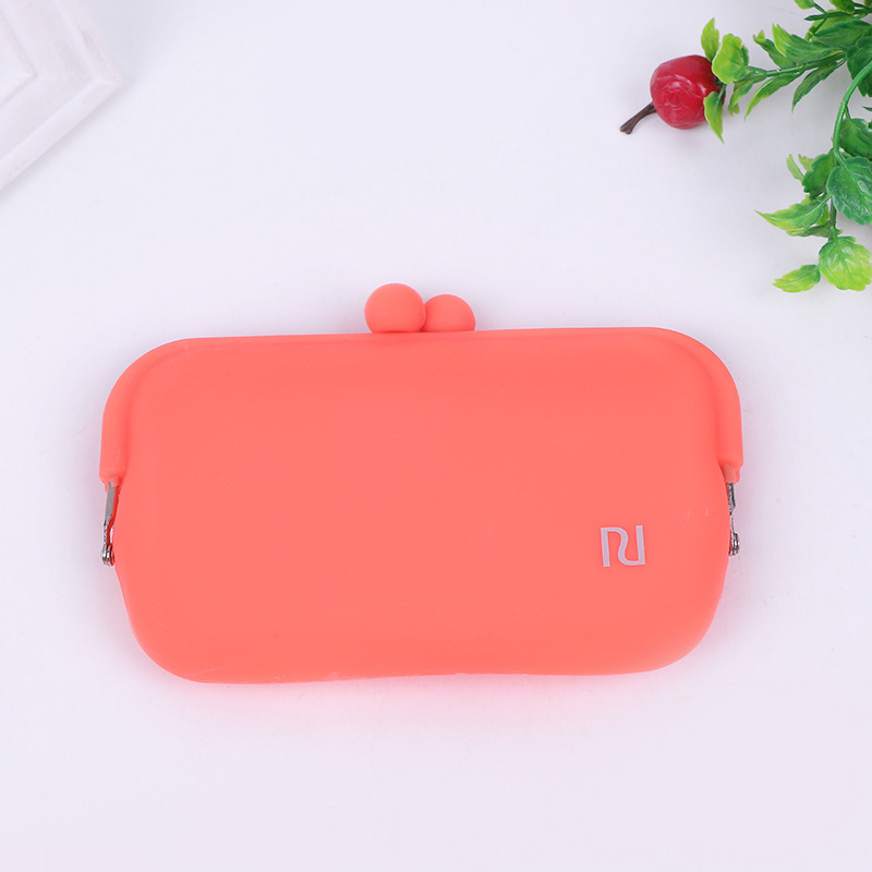 NEW Women Bags New Candy Color Rubber Silicone Coin Pouch Purse Wallet Glasses Cellphone Cosmetic Coin Bag Case
