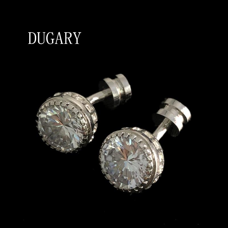 DUGARY Luxury shirt cufflinks for men's Brand cuff buttons cuff links gemelos High Quality crystal wedding abotoaduras Jewelry