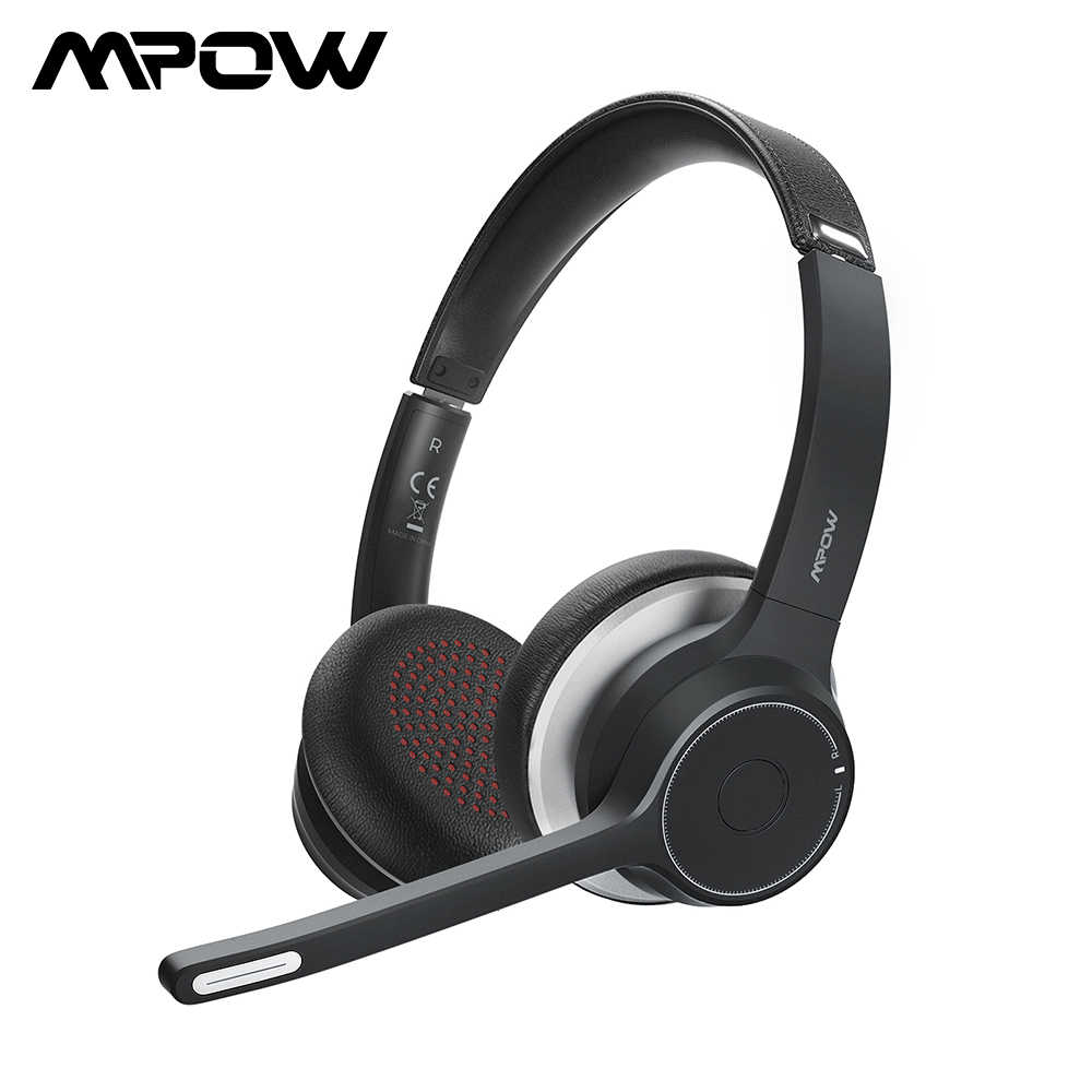 Upgraded Mpow Hc5 Wireless Headphones Bluetooth 5 0 Headset With Cvc8 0 Noise Cancelling Microphpne For Phone Pc Computer Office Aliexpress