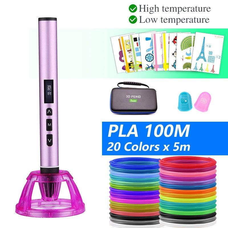 Dual Mode 3D Pen, 3D Printing Pen,PCL And PLA Filament 1.75mm ,Dual Mode 3D Pen, With Beautiful Storage Bag
