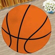 Креативный баскетбольный футбольный коврик фланелевый с принтом и окрашиванием, коврик для пола, декоративный коврик для йоги, нескользящий абсорбирующий коврик для стула 5