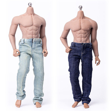 цены 1/6 Scale Male Action Figure Jeans Pants Light/Blue 2 Color for Muscular Body Figures