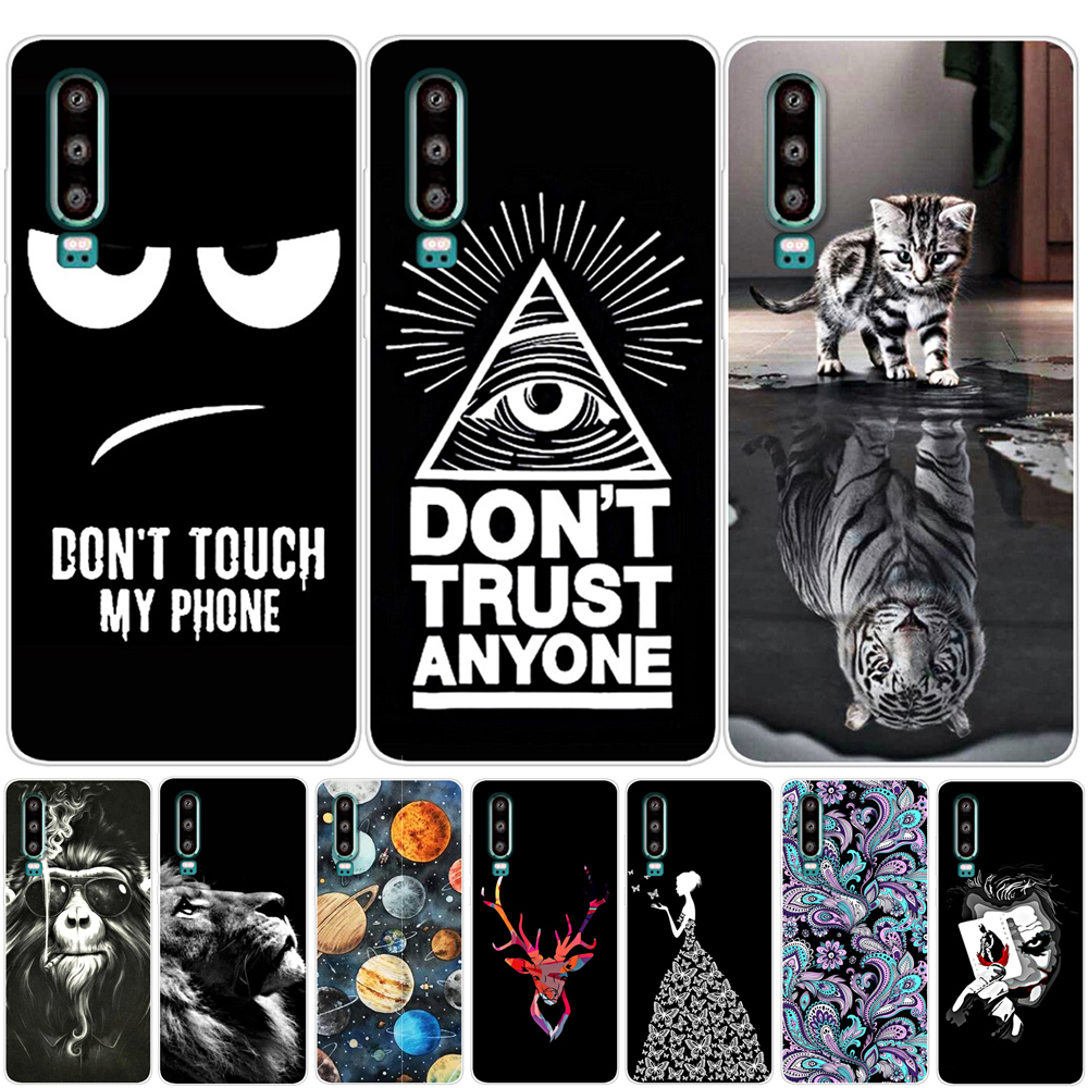 YIKS For Funda Huawei P20 Lite <font><b>P30</b></font> Pro <font><b>Case</b></font> Silicone Flower Soft TPU <font><b>Phone</b></font> <font><b>Case</b></font> For Coque Huawei P20 Pro <font><b>P30</b></font> Lite <font><b>Case</b></font> Cover image