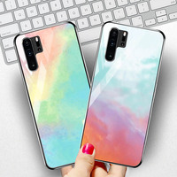 silicone case Tempered Glass Case For Huawei P30 P20 pro Cases Space Silicone Covers for Huawei P30 P20 lite 2019 P20 lite 2018 back cover (2)