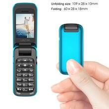 BM60 Small Flip Cover Mini Phone Bluetooth Flip Music Phone MP3 Music Player FM Radio