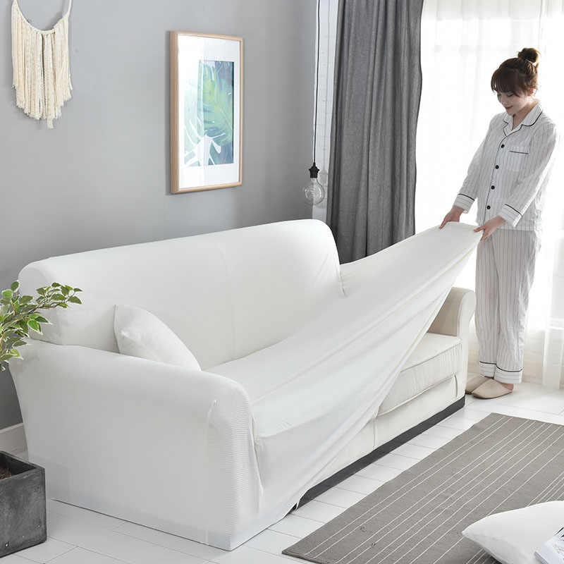 Sensational White Polyeater Spandex Corner Sofa Cover For Living Room Pdpeps Interior Chair Design Pdpepsorg