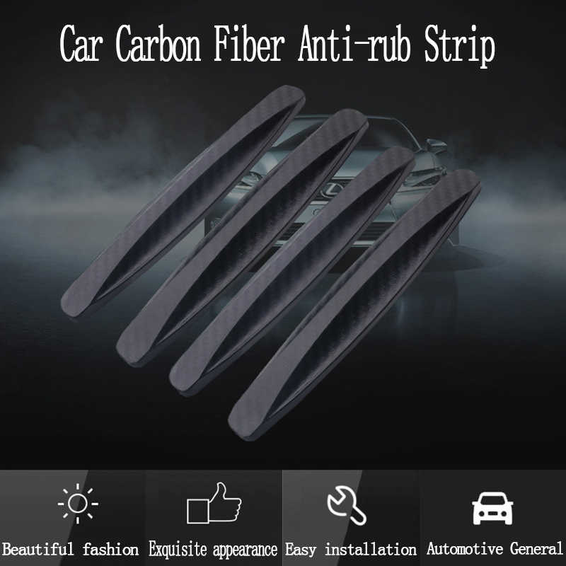 4pcs สติกเกอร์รถประตู EDGE Guards Trim Molding Protection Strip Protector CRASH ประตู GUARD Collision