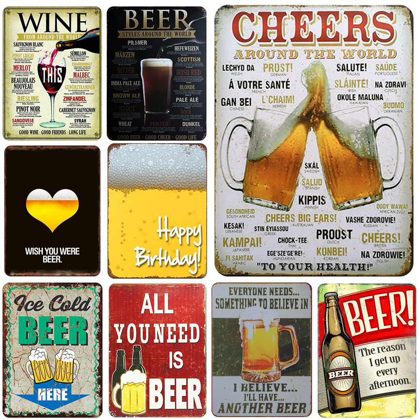 MAN SHED-BEDROOM-GARAGE-FUN-WALL I LOVE BEER TIN LICENCE PLATE 30 x 15cm BAR