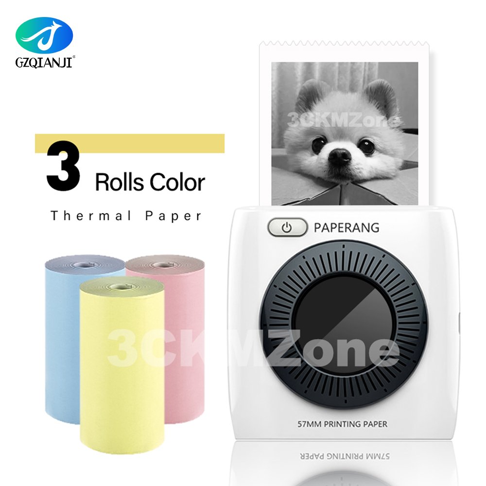 PAPERANG P2 Pocket Printer Portable Bluetooth Printer Phone Photo Wireless Connection Thermal Mini Pocket Label Printer 300dpi