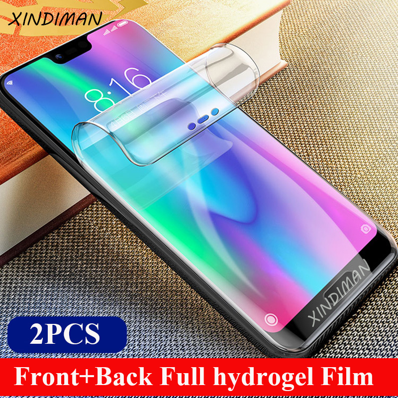 XINDIMAN Full hydrogel film for huawei honor10 10i front+back screen protector for huawei honorV9 V10 V20 honorplay honor8 8X 8C image