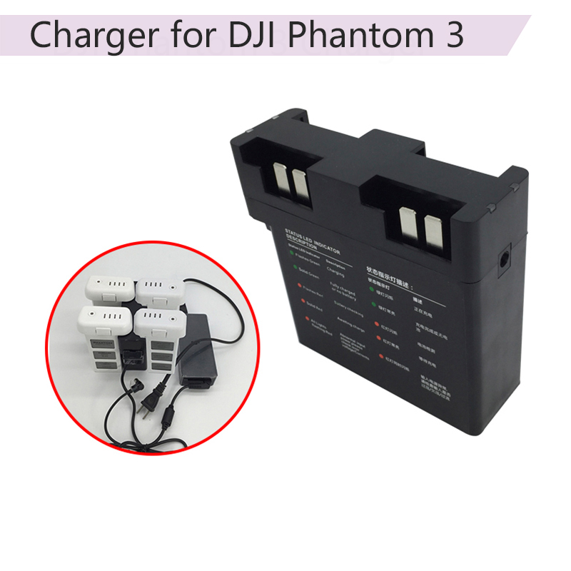 Intelligent Parallel Battery Quick Charging Hub For DJI Phantom 3 SE Advanced Drone Multi Battery Charger Adapter Accessory