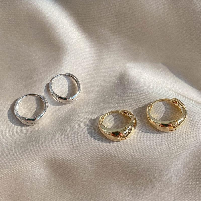 XIYANIKE-boucles d'oreilles en argent Sterling 925, boucles d'oreilles en cercle en Arc, tendance, rétro, Simple et Sexy, exquis pour Couple, cadeau de saint-valentin 2