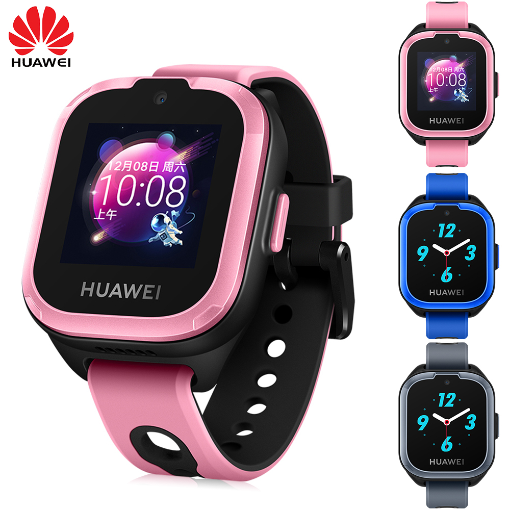 Original HUAWEI Kids Smart Watch 3 2G LTE WiFi Blue 5M Camera 1.4 inch Colorful Touch Android IOS SOS Call Voice Assistant