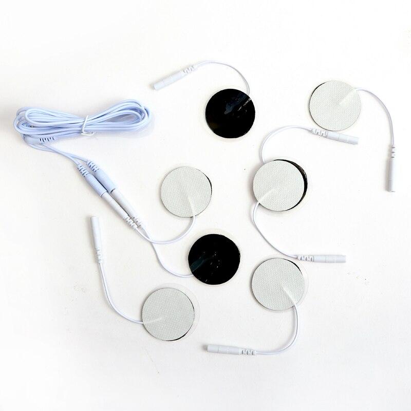 10 sztuk 3.5cm okrągłe białe elektrody klocki naklejki na elektryczne terapia cyfrowa urządzenie do masażu terapeutyczny stymulator mięśni