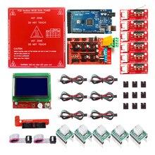 Reprap Rampe 1.4 Kit con Mega 2560 r3 + Heatbed MK2B + 12864 LCD Controller + 5pcs A4988 + 6pcs Interruttore Meccanico per 3D Stampante
