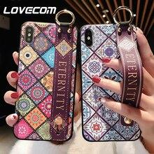 Funda de teléfono con correa de muñeca Floral Retro LOVECOM para Huawei P30 P20 Lite P20 P30 Pro Mate 20