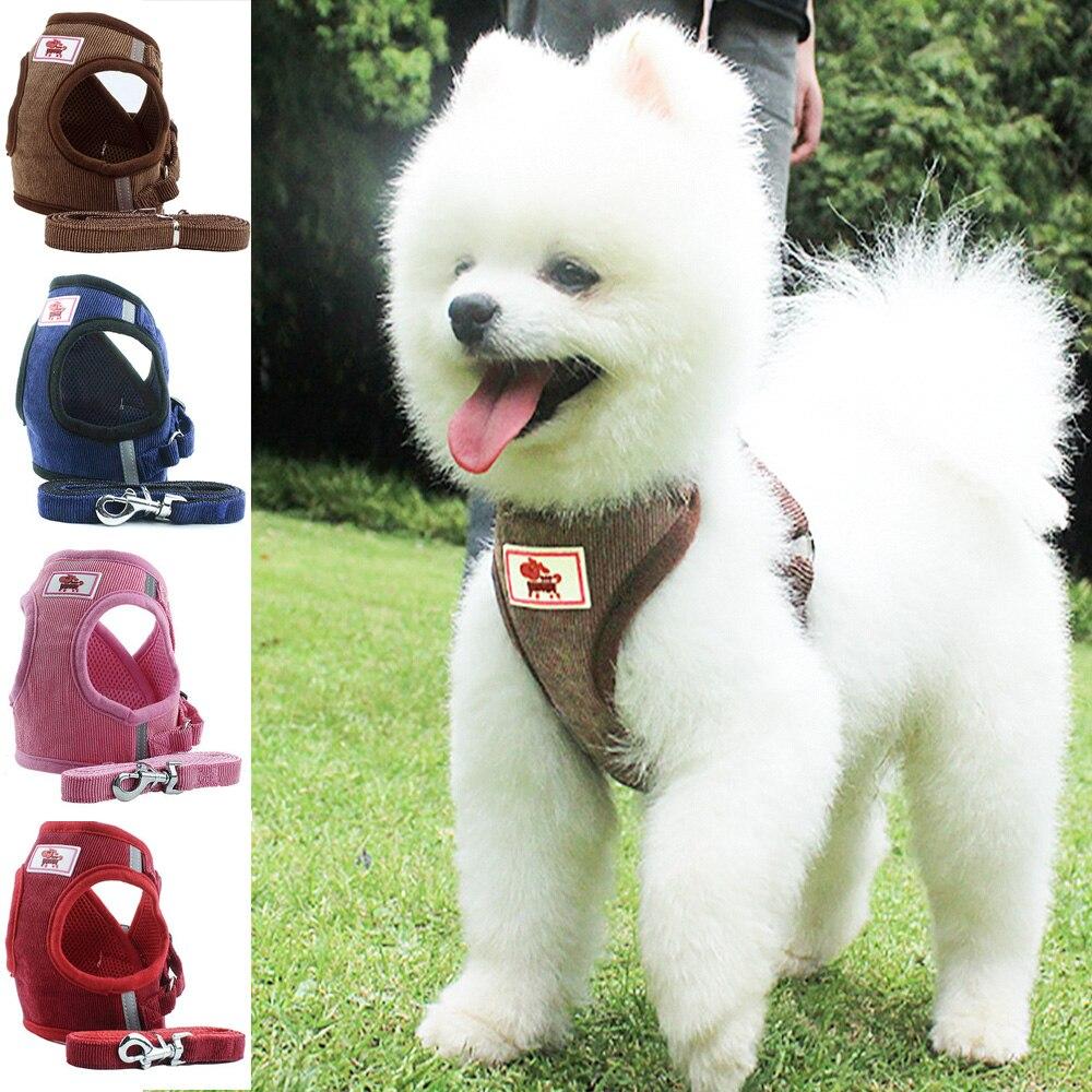 Windbreak Pet Harness Leash Outdoor Adjustable Chest Vest For Small Medium Dog Bulldog Chihuahua Collar Pet Travel Supplies